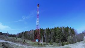 Retransmission cell tower stock video footage