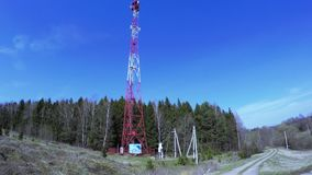 Retransmission cell tower stock video