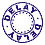 RETRASO texturizado rasguñado alrededor del sello del sello ilustración del vector