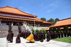 Retratamiento monástico a corto plazo @ Nan Tien Temple Australia fotografía de archivo libre de regalías