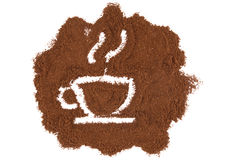 Retrate uma chávena de café Fotografia de Stock
