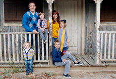 Retrato à moda da família Fotografia de Stock
