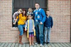 Retrato à moda da família Fotos de Stock Royalty Free