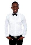 Retrato à moda do africano novo considerável foto de stock