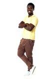 Retrato à moda do indivíduo africano seguro imagens de stock