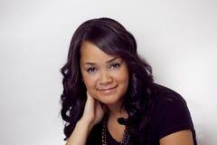 Retrato étnico bonito do close up da mulher Imagem de Stock