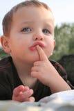 Retrato 01 do rapaz pequeno Fotos de Stock Royalty Free