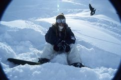 Retrato 1 del Snowboarder imagen de archivo libre de regalías