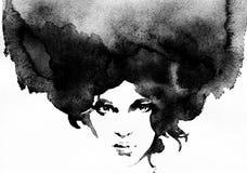 Retrato abstracto de la mujer Fondo de la manera Imagen de archivo