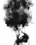 Retrato abstracto de la mujer Fondo de la manera Fotografía de archivo libre de regalías