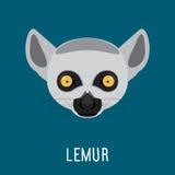 Retrato abstracto del lémur Foto de archivo libre de regalías