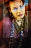 Retrato abstrato da mulher Imagens de Stock