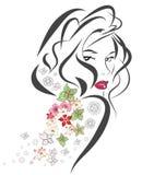 Retrato abstrato da mulher Imagens de Stock Royalty Free