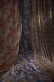 Retrato abstrato das cortinas elegantes fotografia de stock royalty free