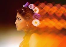 Retrato abstrato de uma rapariga Imagem de Stock Royalty Free