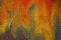 Retrato abstrato feito da areia fotografia de stock royalty free