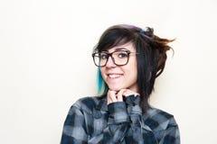 Retrato adolescente alternativo bastante joven de la mujer Foto de archivo