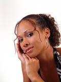Retrato adolescente bastante joven de la mujer negra Foto de archivo