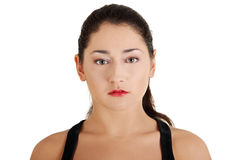 Retrato adolescente da mulher Fotografia de Stock