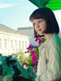 Retrato adolescente de la muchacha Fotos de archivo