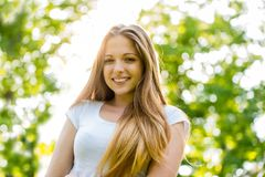 Retrato adolescente de la muchacha Imagen de archivo