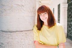 Retrato adolescente de la muchacha Fotografía de archivo