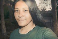 Retrato adolescente de la muchacha asiática hermosa de YoungThailand Fotos de archivo
