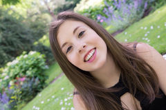 Retrato adolescente de la muchacha de la edad Fotografía de archivo