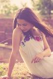 Retrato adolescente de la muchacha del verano Imagenes de archivo