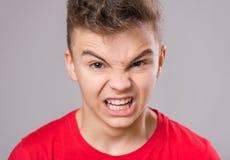Retrato adolescente del muchacho Fotografía de archivo