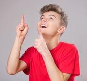 Retrato adolescente del muchacho Imagen de archivo libre de regalías