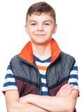 Retrato adolescente del muchacho Imagen de archivo