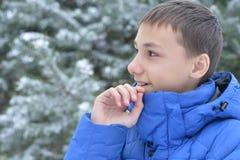 Retrato adolescente del muchacho al aire libre Imagen de archivo