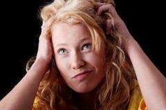 Retrato adolescente divertido de la muchacha Fotos de archivo