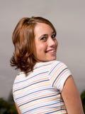 Retrato adolescente feliz de la muchacha Fotografía de archivo