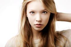 Retrato adolescente hermoso de la muchacha Imágenes de archivo libres de regalías