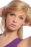 Retrato adolescente joven de la mujer Imagen de archivo