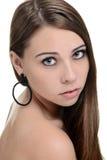 Retrato adolescente moreno Fotografia de Stock Royalty Free