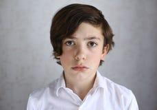 Retrato adolescente ofendido só triste do menino Imagem de Stock Royalty Free