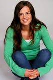 Retrato adolescente sonriente Imagen de archivo libre de regalías