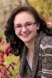 Retrato adolescente sonriente de la muchacha Fotografía de archivo