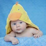 Retrato adorable de tres meses del bebé Fotografía de archivo