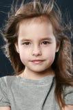 Retrato adorable del primer de la niña Foto de archivo libre de regalías