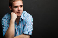 Retrato adulto joven hermoso del hombre Imágenes de archivo libres de regalías