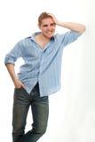 Retrato adulto joven hermoso del hombre Imagen de archivo libre de regalías