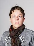 Retrato afectivo del adolescente en estudio Imágenes de archivo libres de regalías