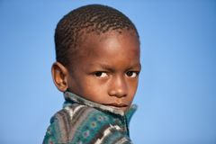 Retrato africano da criança imagens de stock royalty free