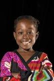 Retrato africano da menina foto de stock