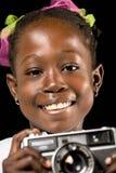 Retrato africano da menina fotografia de stock
