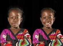 Retrato africano da menina imagens de stock royalty free